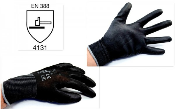 1 - 240 PAAR PU-Handschuhe schwarz
