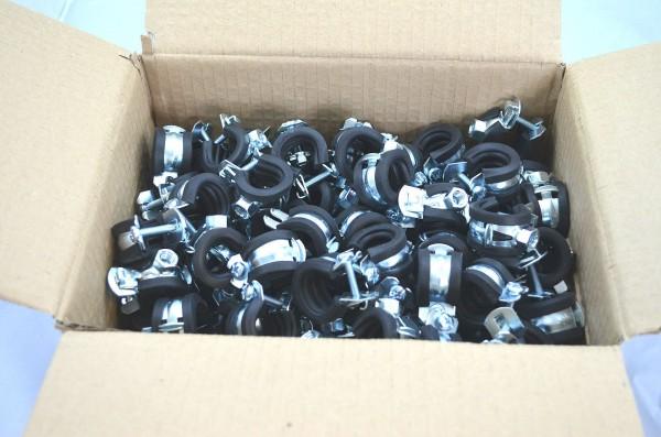 Rohrschellen 1 teilig 50 Stück bis 100 Stück im Karton je nach Größe