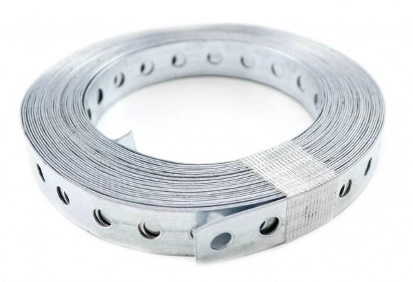 Lochband verzinkt 17 mm breit 10 m/Rolle