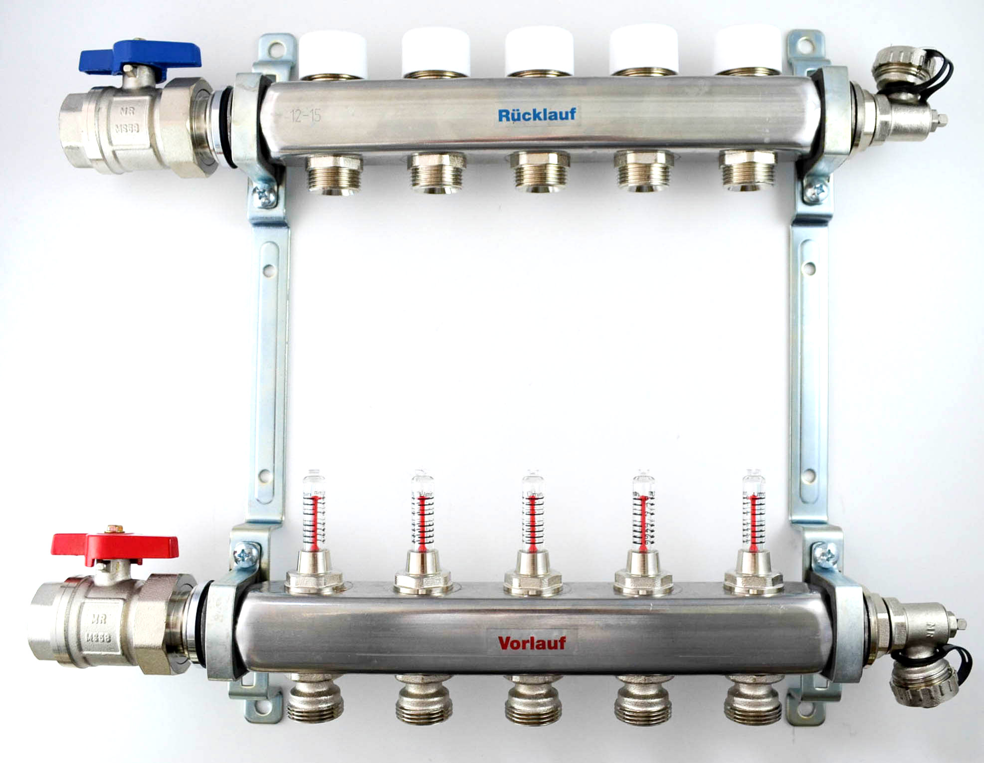 Gut bekannt Edelstahl Heizkreisverteiler mit Durchflußmengenmesser HKV-D IS54