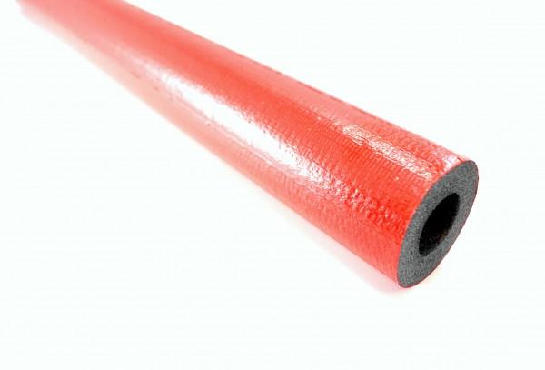 2 m PE Rohrisolierung rot rund ( auf 2 x 1 m geschnitten )