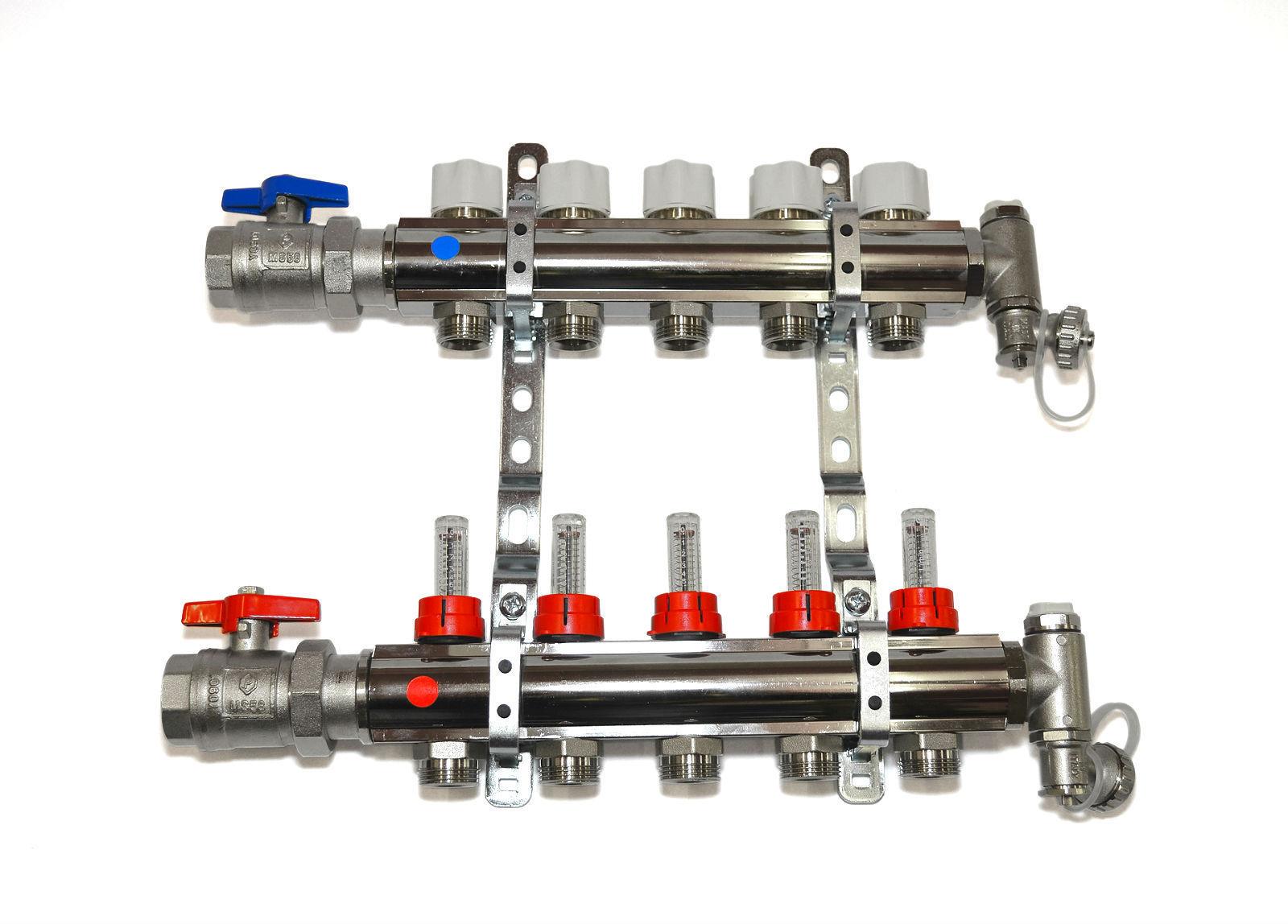 Bevorzugt Messing Heizkreisverteiler mit Durchflußmengenmesser QN17