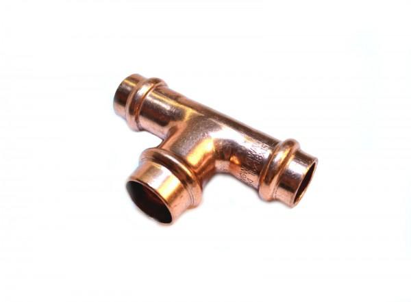 Kupfer Pressfitting T-Stück reduziert 35x18x35 mm