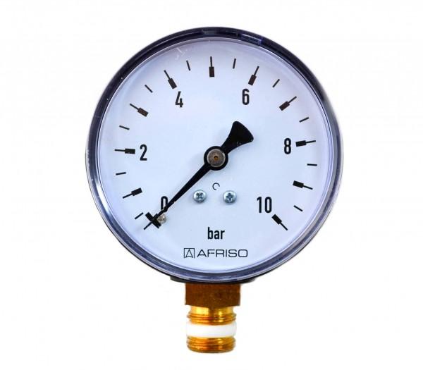 """Manometer 0-10 bar G 1/4"""" senkrecht"""