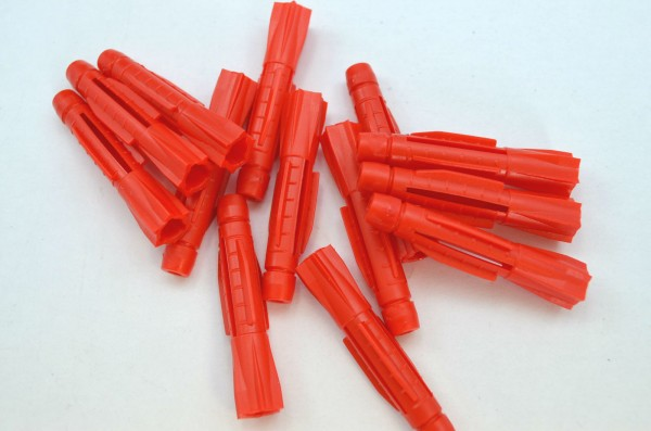 Universaldübel Allzweckdübel rot ohne Kragen